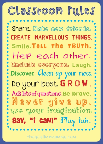Classroom rules by theycallmemummy.com