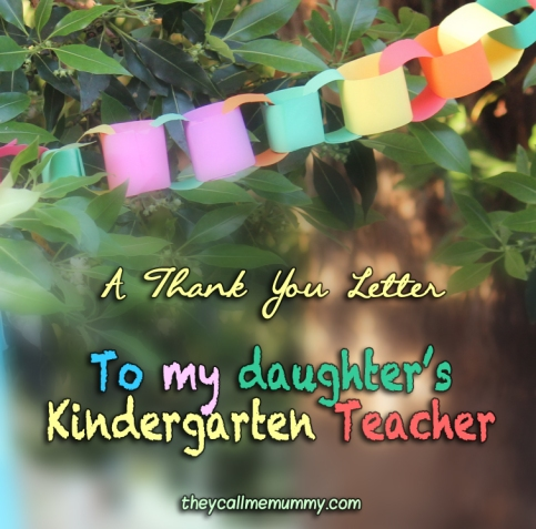 A Letter to my Child's Kindergarten Teacher